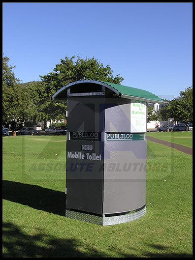 Green Freestanding Pubiloo mobile ablution